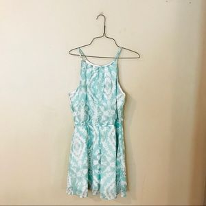 NWT White and Mint Tie Dye Style Dress